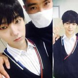 Super Junior藝聲上傳與始源兵役休假合照