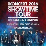 韓星網送你iKON「iKONCERT 2016 [SHOWTIME] TOUR」吉隆坡站門票6張
