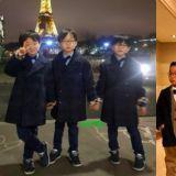 國民三胞胎的暴風成長!埃菲爾鐵塔前留影秒變小紳士