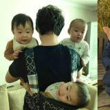 「超级奶爸」宋一国晒出三胞胎旧照:「6年前的今天还可以轻松抱起三个...现在抱一个都很累!」