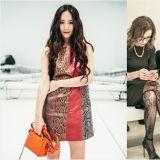 f(x) Krystal出席「米蘭時裝週」:迷你裙+長捲髮 展現優雅魅力