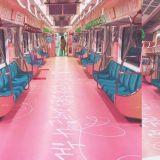 粉丝站联合打造「BTS防弹少年团地铁车厢」!最近有要去首尔玩的Army们,一定要去搭一下啊!