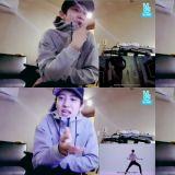 EXO灿烈观看LAY《LOSE CONTROL》MV LAY:灿烈也赶快出SOLO专辑吧!