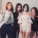 少女時代秀英、徐玄、Tiffany、Yuri應援太妍單獨演唱會