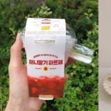 韩国便利商店也有高颜值甜点!GS25推出「蜂蜜草莓芭菲」,这真的会让人想要试试呢!