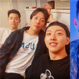 再4天就退伍啦!CNBLUE李正信通过个人SNS分享与郑容和、姜敏赫合照
