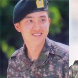 EXO D.O.(都敬秀)今日(6日)參加新兵教育結業式!兵哥哥太帥氣了~