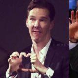 「奇异博士」Benedict Cumberbatch爆笑比心法!堪称比心界的泥石流XD