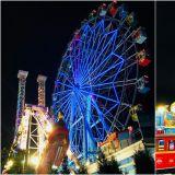 【首爾近郊.仁川】月尾島主題樂園,彩色摩天輪,夜間遊園更美麗!