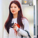 秀智在機場時突然紮起頭髮是為什麼?得知真相後...果然是位超敬業的小仙女!