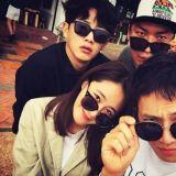池晟、Yuri、金玟锡与《被告人》剧组 享受冲绳休假中