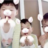 宋一国更新三胞胎近况!玩著App各种特效的大韩民国万岁,真的太可爱了啦!