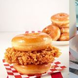減肥的事之後再說!韓國肯德基與Dunkin' Donuts合作...推出甜鹹混搭的「甜甜圈雞腿漢堡」