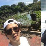 度假中的代表nim啊!朴炯植更新在峇里岛度假自拍照!