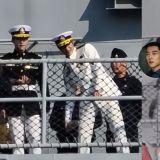 《The King:永遠的君主》最新拍攝路透照曝光!李敏鎬穿著一身白色海軍制服,4月快點來吧~