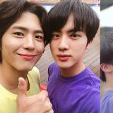 帥哥+帥哥=雙倍的幸福!BTS防彈少年團Jin曬和朴寶劍3年前的雙人照,太養眼了XD
