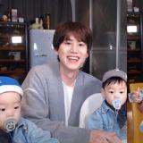 带娃真的好累啊!Super Junior圭贤和双胞胎侄子玩直播,从满脸笑容到眼神呆滞XD