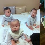 宋一國公開三胞胎嬰兒時期照片!肉嘟嘟的臉頰、萬歲等待洗澡樣子真的超萌 XD