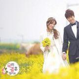 《我们结婚了》郑惠成&孔明CP盛开油菜花田里的甜蜜结婚式