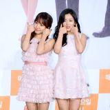 A pink金南珠尹普美出席《食神之路2》發佈會 粉嫩短裙可愛十足
