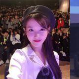 疼愛粉絲出了名的IU!日前出席活動時,用了粉絲的手機拍下了多張自拍照!