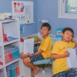 三胞胎开学啦!大韩民国万岁在家上网课