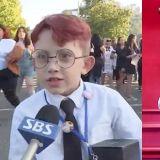 電視台採訪BTS防彈少年團美國演唱會周邊,驚見可愛紅髮小JIMIN~!