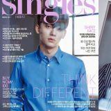 EXO CHEN登Singles 3月號封面 談成為OST強者與EXO-CBX活動心得