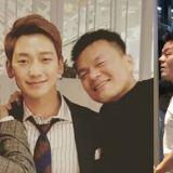 JYP家族爱!Rain和朴轸永一同出现在JYP新大楼,但大家的焦点都在... XD