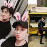 EXO燦烈為正在拍戲的世勳送去應援餐車!「曾經這樣的世勳…都在拍動作片了」