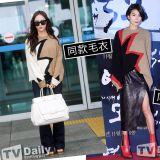 Krystal和金瑞亨穿同款毛衣&同款皮裙!同款單品如何穿出不同Style~