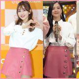 BLACKPINK Jisoo VS 全昭彌:同款心形紐扣襯衫&短裙 ❤