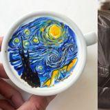 「才貌双全」这位韩国咖啡拉花界的男神连《星空》都能拉出!