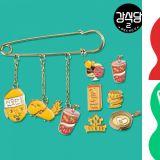 《姜食堂2》新周边出来啦!有成员们专属的别针、美妙汉的吸管、会发光的妙汉手机壳!