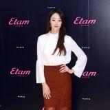 崔汝珍助陣品牌活動 白衣蕾絲裙知性優雅