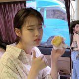 「睡意全消、早餐解决!」IU收到OH MY GIRL的餐车应援