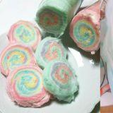 韓國網路上熱賣!!100%手作可以切的彩色棉花糖捲!
