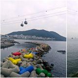 釜山三大天空步道之——松島天空步道,大韓民國萬歲也有來過!還可以搭透明纜車喔~