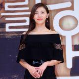 《愛你的時間》發佈會 河智苑黑色露肩禮服顯優雅