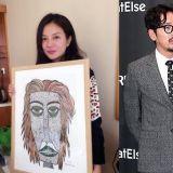 赵薇收到河正宇的亲笔画作