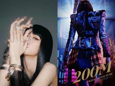 BLACKPINK Lisa solo曲《LALISA》13天突破两亿观看人次,成绩远超同队成员 Jennie & Rosé