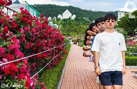 团体照人太多怎么拍? 8个大男孩教你拍出超有梗的出游照 - KSD 韩星网 -117649-745123