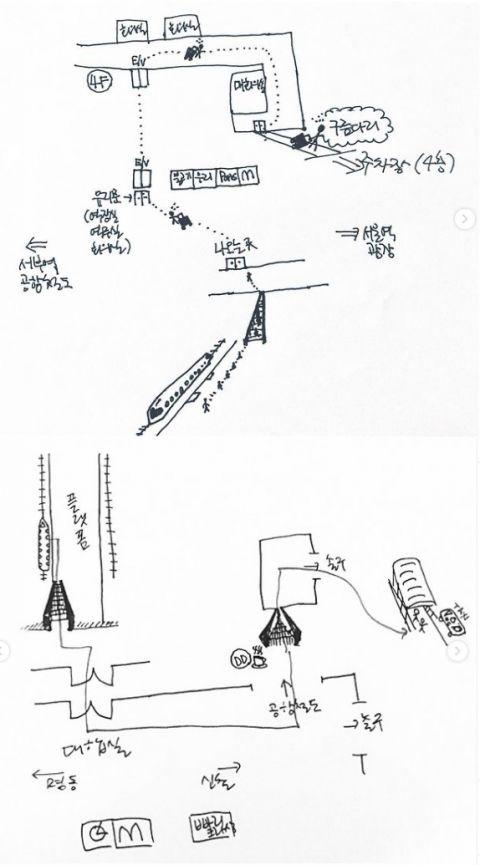 「别人家的另一半,从来不会让人失望!」Peppertones李章源为路痴的老婆手绘首尔站地图