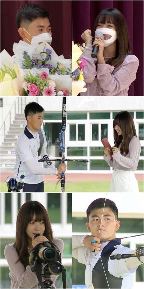 录影巧遇少女时代,润娥还兴奋打招呼!17岁射箭选手金济德尴尬笑:「其实不太认识他们」