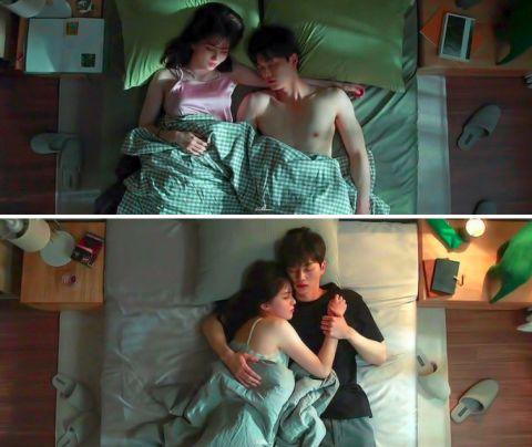 单身勿入!《无法抗拒的他》宋江、韩韶禧各式各样的甜蜜床上睡姿,太有现实感了
