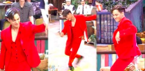 【有片】穿著红西装的EXO KAI跳起了TWICE的女团舞!这魅力谁能受得了啊♥