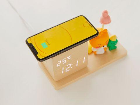 Kakao Friends新品床头钟!兼职温度计&小夜灯&无线充电等超多功能