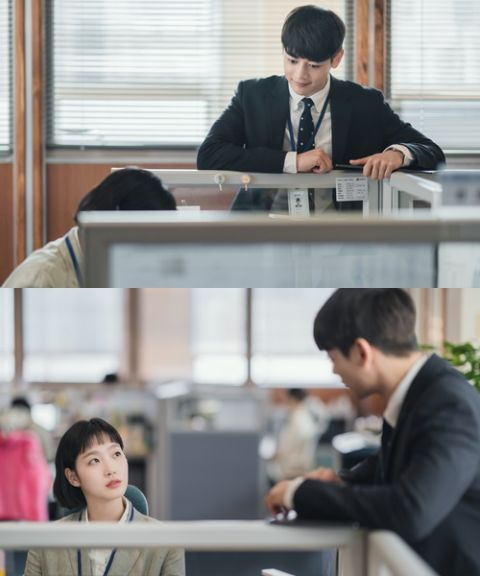 新剧《柔美的细胞小将》金高银&崔珉豪「令人心动的瞬间」剧照,这个公司后辈也太帅吧~!