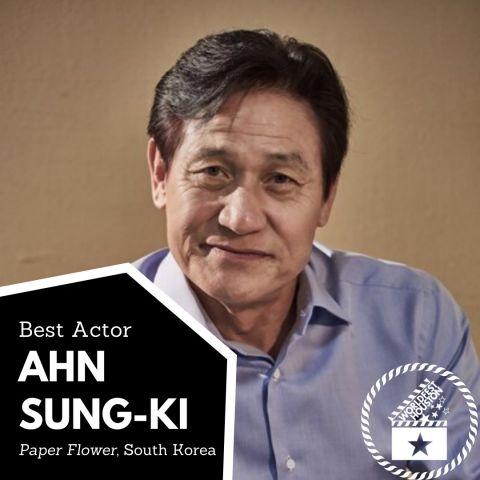 安圣基以电影《纸花》成为休士顿影展影帝!为韩国史上首位!