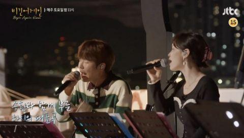 李遐怡离开YG后首次上节目!《Begin Again Korea》街头开唱